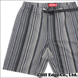SUPREME Striped Madras Belted Short (shorts) BLACK 244-000577-641-