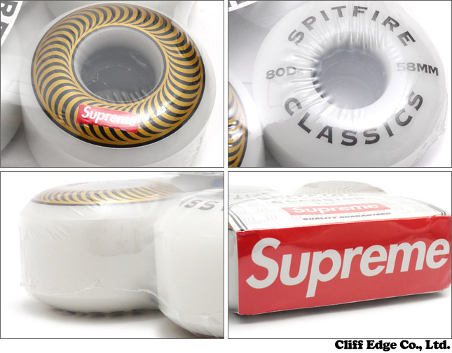 SUPREME Spitfire Wheels 58 mm (위르 4개 세트) GOLD 290-003074-588 x