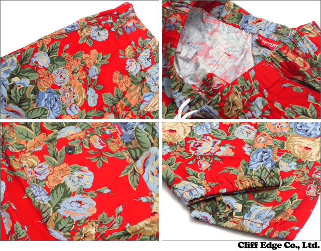 SUPREME Flowers Pant (pants) RED 249 - 000475 - 033x
