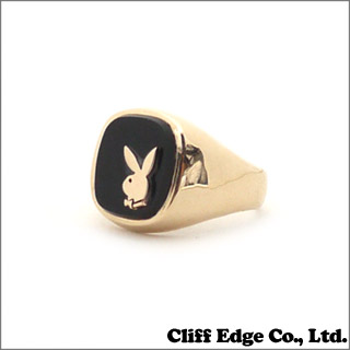 SUPREME (슈 프림) Playboy Gold Ring (반지) (반지) GOLD 266-138010-118x