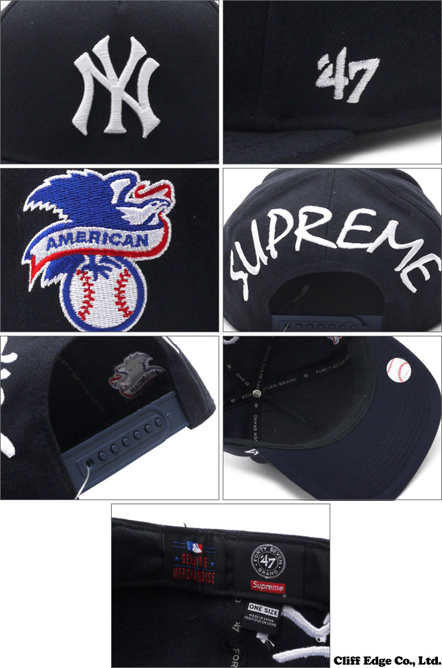 d85d230935f ... where can i buy supreme xnew york yankees 47 brand panel snapback cap  snap back cap