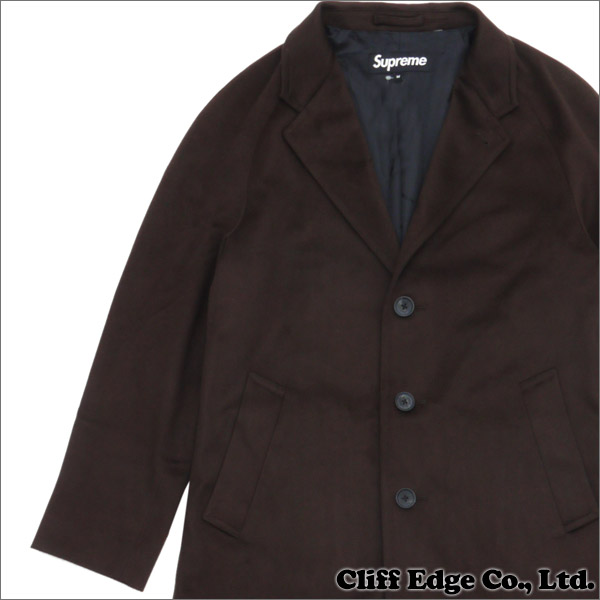 SUPREME(シュプリーム) Loro Piana(ロロ・ピアーナ) Wool Overcoat(コート) BROWN 230-000890-046+【新品】