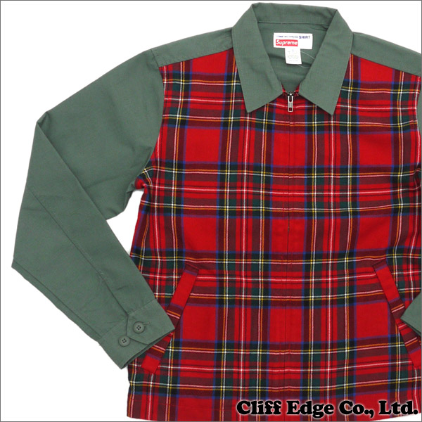 SUPREME (슈 프림) x COMME des GARCONS SHIRT (컴 드 르 손 셔츠) Work Jacket (재킷) OLIVE 230-000905-035 +