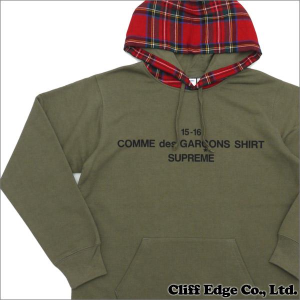 f541159613084 SUPREME x COMME des GARCONS SHIRT Hooded Sweatshirt (sweat parka) +  211-000391