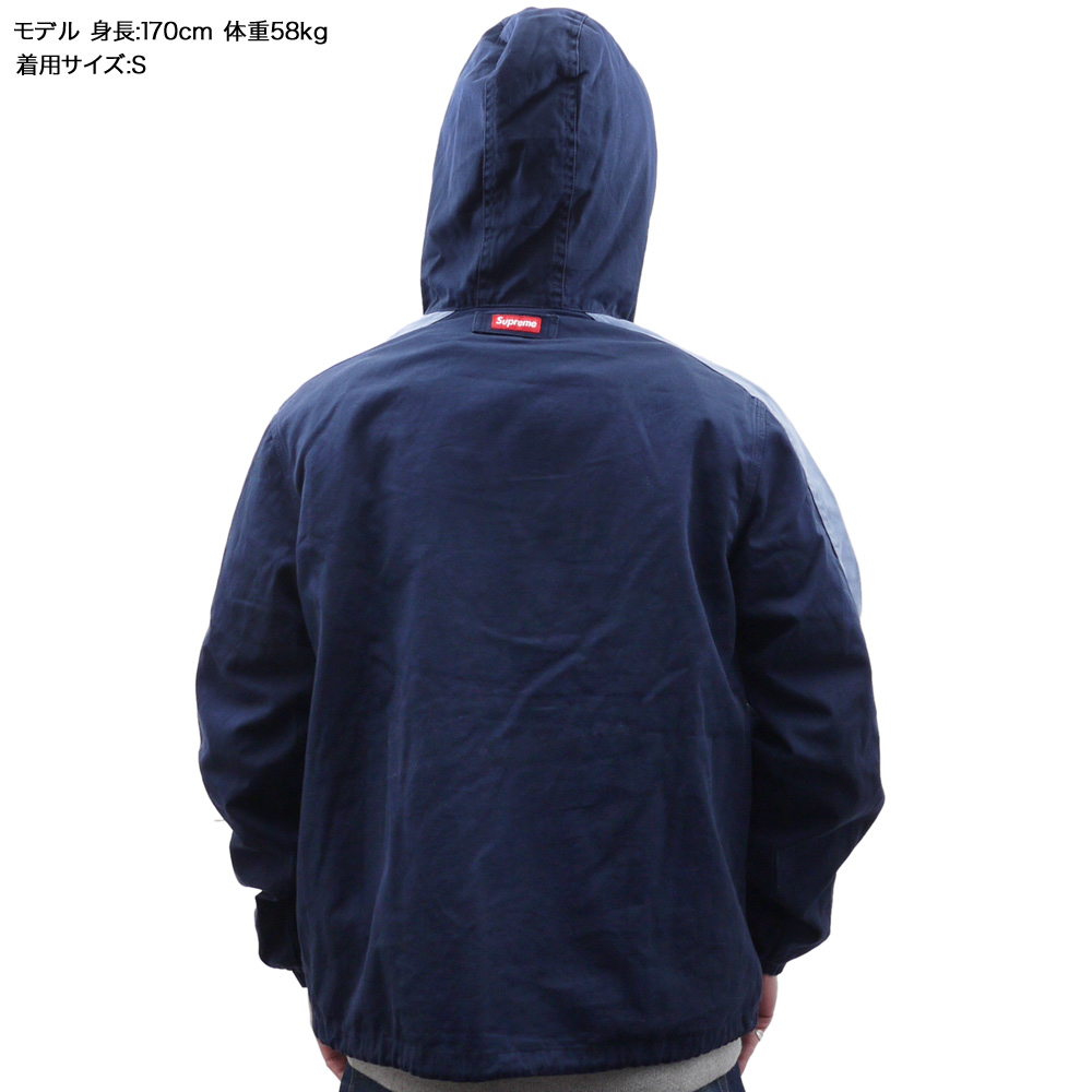 SUPREME(슈프림) Twill Anorak (아노락)(재킷) NAVY 228-000135-037+