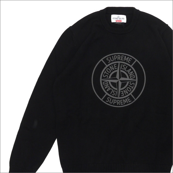 SUPREME x Stone Island 231-000323-041 BLACK Reflective Compass Sweater  (knit) (sweater) + a6fbf131a9b7