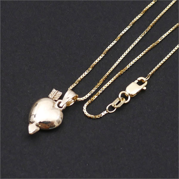 SUPREME(슈프림) Gold Heart and Arrow Pendant (펜던트)(목걸이) 267-000201-018+