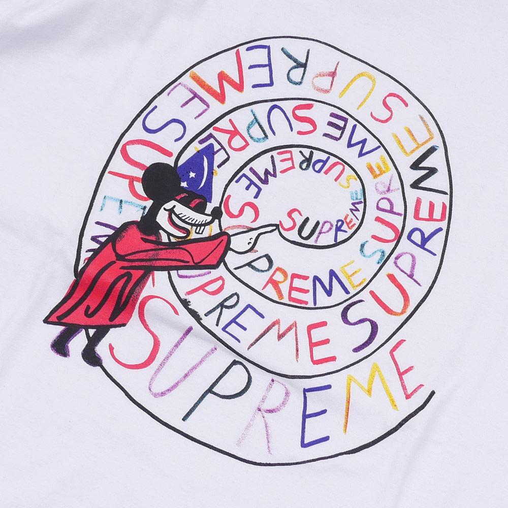 SUPREME(슈프림) Joe Roberts Swirl Tee (T셔츠) WHITE 200-007291-040+