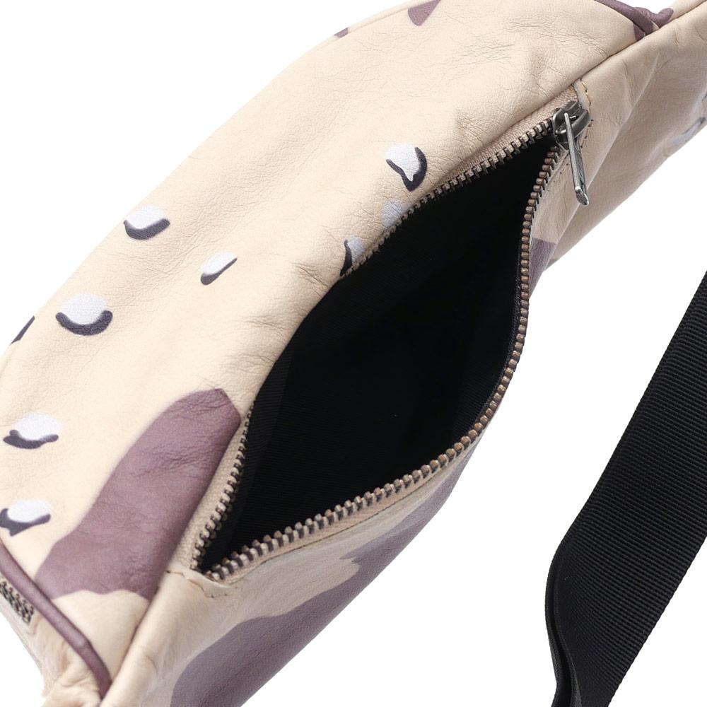 SUPREME(슈프림) Leather Waist Bag (웨스트 가방) DESERT CAMO 275-000156-016+