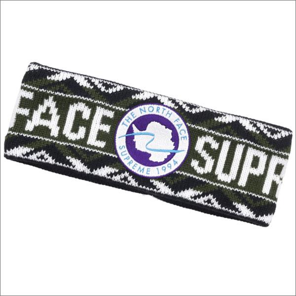 【合計15,000円(税抜)以上のお買い上げでステッカープレゼント!】 SUPREME(シュプリーム) x THE NORTH FACE(ザ・ノースフェイス) Trans Antarctica Expedition Headband (ヘッドバンド) OLIVE 290-004275-115+【新品】