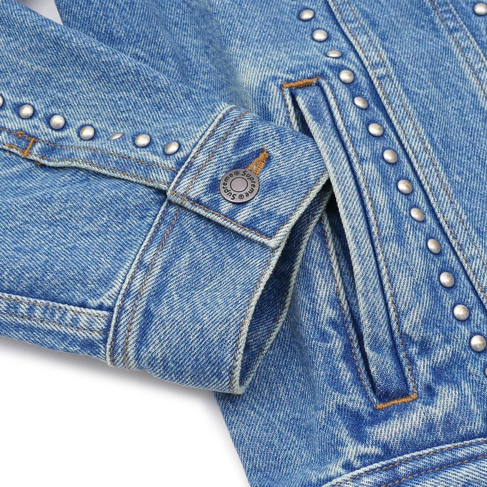 SUPREME(슈프림) Studded Denim Trucker Jacket (데님 재킷)(G쟌) BLUE 224-000098-044+
