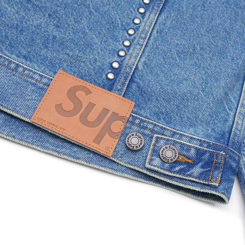 SUPREME(슈프림) Studded Denim Trucker Jacket (데님 재킷)(G쟌) BLUE 224-000098-044+