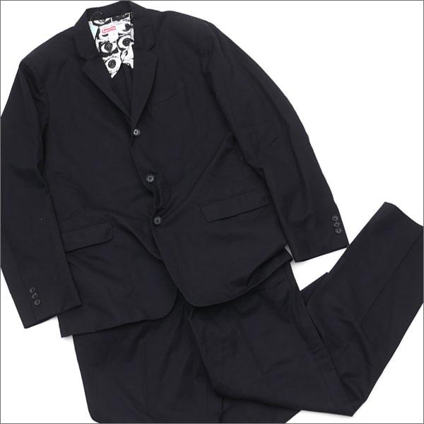【合計15,000円(税抜)以上のお買い上げでステッカープレゼント!】 SUPREME(シュプリーム) x COMME des GARCONS SHIRT(コムデギャルソン シャツ) Suit (セットアップ)(スーツ) BLACK 239-000166-131+【新品】