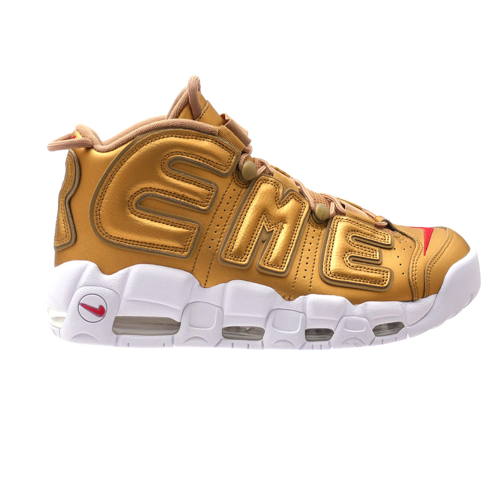 It is METALLIC GOLD/WHITE 902,290-600 291-002237-298+ (sneakers) (shoes) NIKE (Nike) x SUPREME (シュプリーム) AIR MORE UPTEMPO (air more up tempo)