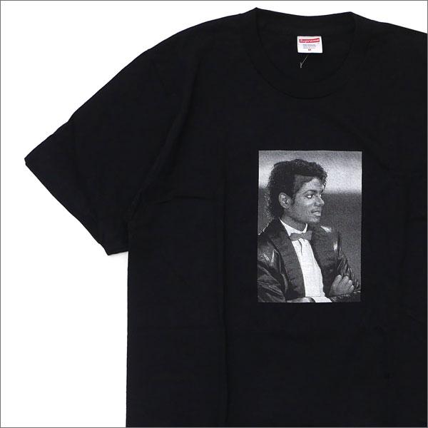 【合計15,000円(税抜)以上のお買い上げでステッカープレゼント!】 SUPREME(シュプリーム) Michael Jackson Tee (Tシャツ)(マイケル・ジャクソン) BLACK 200-007425-131+【新品】