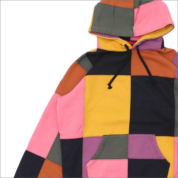 【合計15,000円(税抜)以上のお買い上げでステッカープレゼント!】 SUPREME(シュプリーム) Patchwork Hooded Sweatshirt (スウェットパーカー) BLACK 211-000504-131+【新品】