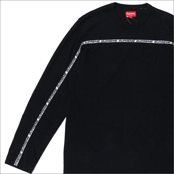 シュプリーム SUPREME Tape Stripe L S Pique Top ピケ 長袖Tシャツ BLACK 203000260041 【新品】:Cliff Edge