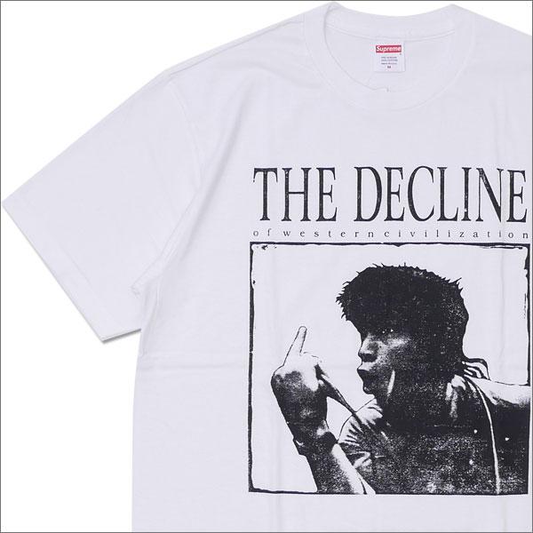 【合計15,000円(税抜)以上のお買い上げでステッカープレゼント!】 SUPREME(シュプリーム) Decline of Western Civilization Tee (Tシャツ) WHITE 200-007618-030+【新品】