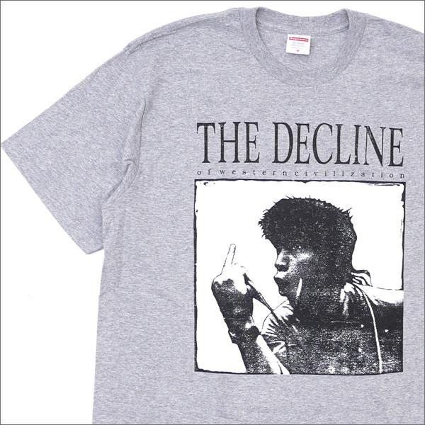 【合計15,000円(税抜)以上のお買い上げでステッカープレゼント!】 SUPREME(シュプリーム) Decline of Western Civilization Tee (Tシャツ) GRAY 200-007618-132+【新品】