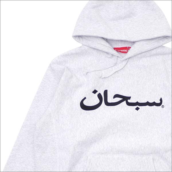 シュプリーム SUPREME Arabic Logo Hooded Sweatshirt スウェットパーカー ASH GRAY 211000520152 【新品】