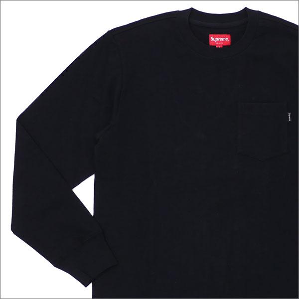 【合計15,000円(税抜)以上のお買い上げでステッカープレゼント!】 SUPREME(シュプリーム) L/S Pocket Tee (Tシャツ) BLACK 202-000916-031+【新品】