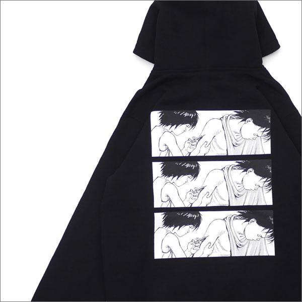 【合計15,000円(税抜)以上のお買い上げでステッカープレゼント!】 SUPREME(シュプリーム) x AKIRA(アキラ) Syringe Zip Up Sweatshirt (スウェットパーカー) BLACK 212-001009-041+【新品】