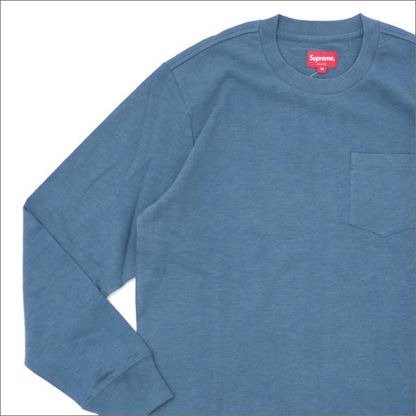 【合計15,000円(税抜)以上のお買い上げでステッカープレゼント!】 SUPREME(シュプリーム) L/S Pocket Tee (長袖Tシャツ) DUSTY TEAL 202-000916-145+【新品】