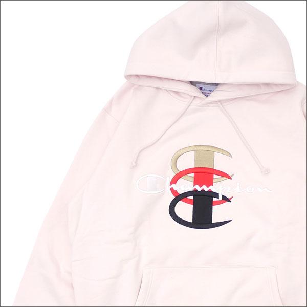 シュプリーム SUPREME Champion Stacked C Hooded Sweatshirt スウェットパーカー LIGHT PINK 211000523043 【新品】