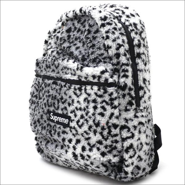 【合計15,000円(税抜)以上のお買い上げでステッカープレゼント!】 SUPREME(シュプリーム) Leopard Fleece Backpack (バックパック) WHITE 276-000274-010+【新品】