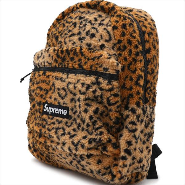【合計15,000円(税抜)以上のお買い上げでステッカープレゼント!】 SUPREME(シュプリーム) Leopard Fleece Backpack (バックパック) YELLOW 276-000274-018+【新品】