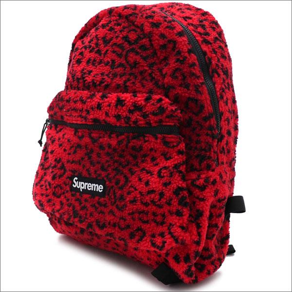 【合計15,000円(税抜)以上のお買い上げでステッカープレゼント!】 SUPREME(シュプリーム) Leopard Fleece Backpack (バックパック) RED 276-000274-013+【新品】