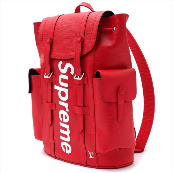 【合計15,000円(税抜)以上のお買い上げでステッカープレゼント!】 SUPREME(シュプリーム) x LOUIS VUITTON(ルイ・ヴィトン) Christpher Backpack PM (バックパック) RED 276-000272-013+【新品】