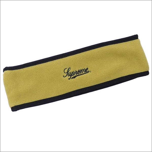 【合計15,000円(税抜)以上のお買い上げでステッカープレゼント!】 SUPREME(シュプリーム) Polartec Logo Headband (ヘッドバンド) SULPHUR 290-004549-015+【新品】