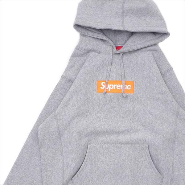 【合計15,000円(税抜)以上のお買い上げでステッカープレゼント!】 SUPREME(シュプリーム) Box Logo Hooded Sweatshirt (ボックスロゴ)(BOXロゴ)(スウェットパーカー) GRAY 211-000530-142+【新品】