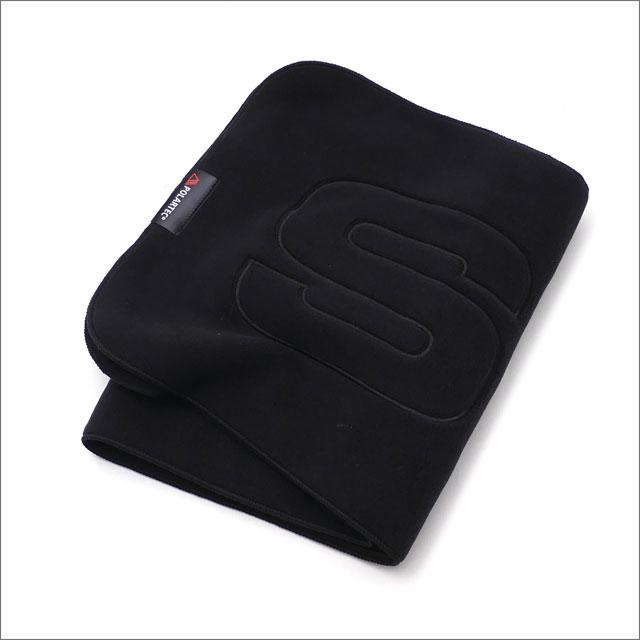 【合計15,000円(税抜)以上のお買い上げでステッカープレゼント!】 SUPREME(シュプリーム) Polartec Logo Scarf (スカーフ)(マフラー) BLACK 281-000176-011 418-000143-011+【新品】