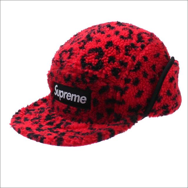 【合計15,000円(税抜)以上のお買い上げでステッカープレゼント!】 SUPREME(シュプリーム) Leopard Polar Fleece Earflap Camp Cap (キャンプキャップ) RED 265-000977-133+【新品】