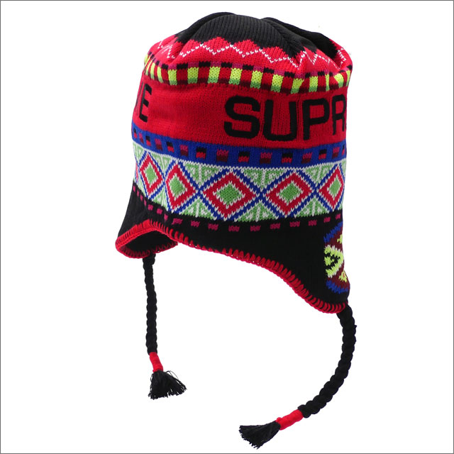 【合計15,000円(税抜)以上のお買い上げでステッカープレゼント!】 SUPREME(シュプリーム) Nepali Earflap Beanie (ビーニー) BLACK 253-000437-111+【新品】