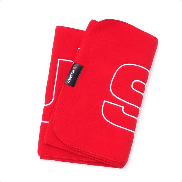【合計15,000円(税抜)以上のお買い上げでステッカープレゼント!】 SUPREME(シュプリーム) Polartec Logo Scarf (スカーフ)(マフラー) RED 281-000176-119 418-000143-013+【新品】