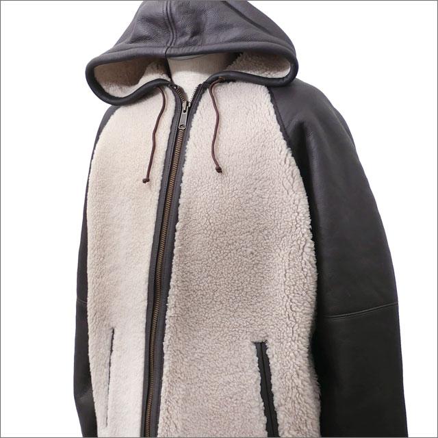 【合計15,000円(税抜)以上のお買い上げでステッカープレゼント!】 SUPREME(シュプリーム) Reversed Shearling Hooded Jacket (ジャケット) BROWN 418-000113-046+【新品】