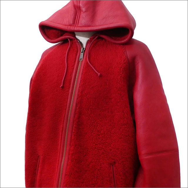 【合計15,000円(税抜)以上のお買い上げでステッカープレゼント!】 SUPREME(シュプリーム) Reversed Shearling Hooded Jacket (ジャケット) RED 418-000113-043+【新品】
