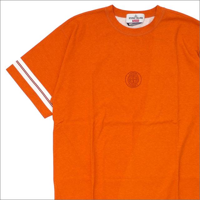【合計15,000円(税抜)以上のお買い上げでステッカープレゼント!】 SUPREME(シュプリーム) x Stone Island(ストーンアイランド) Stone Island S/S Top (Tシャツ) ORANGE 418-000112-059 418-000142-039+【新品】