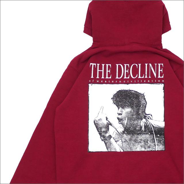 【合計15,000円(税抜)以上のお買い上げでステッカープレゼント!】 SUPREME(シュプリーム) Decline Hooded Sweatshirt (スウェットパーカー) CARDINAL 418-000125-053+【新品】