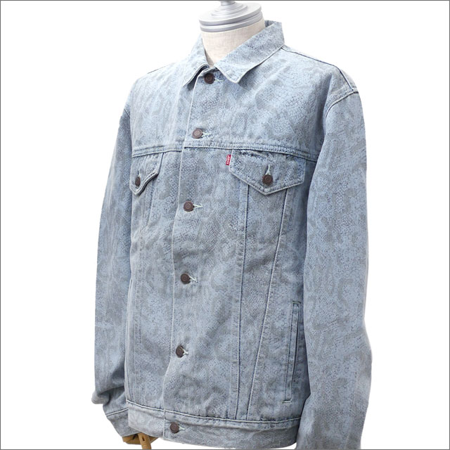 a0c10b6c シュプリーム SUPREME Levi's Snakeskin Trucker Jacket denim jacket G Jean LT.BLUE  418000124054