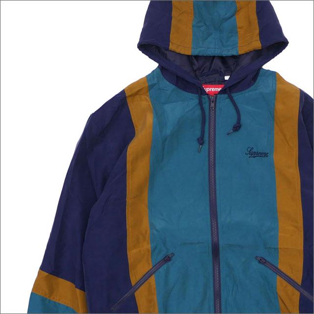 【合計15,000円(税抜)以上のお買い上げでステッカープレゼント!】 SUPREME(シュプリーム) Silk Hooded Jacket (ジャケット) NAVY 418-000123-057+【新品】
