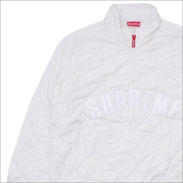 【合計15,000円(税抜)以上のお買い上げでステッカープレゼント!】 SUPREME(シュプリーム) Arc Logo Quilted Half Zip Pullover (ジャケット) WHITE 418-000122-040+【新品】