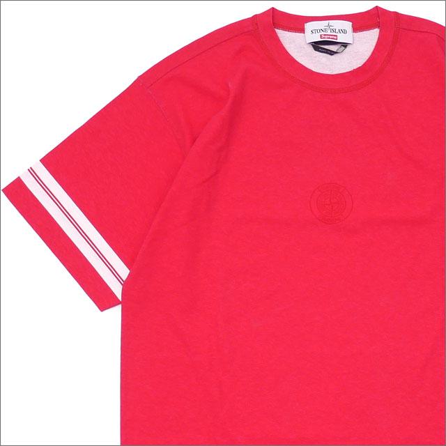 シュプリーム SUPREME x Stone Island ストーンアイランド Stone Island S S Top Tシャツ MAGENTA 418000142043 【新品】