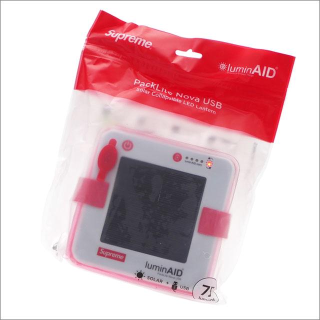 【合計15,000円(税抜)以上のお買い上げでステッカープレゼント!】 SUPREME(シュプリーム) LuminAID Packlite Nova USB (ライト)(ランタン) RED 290-004613-013+【新品】