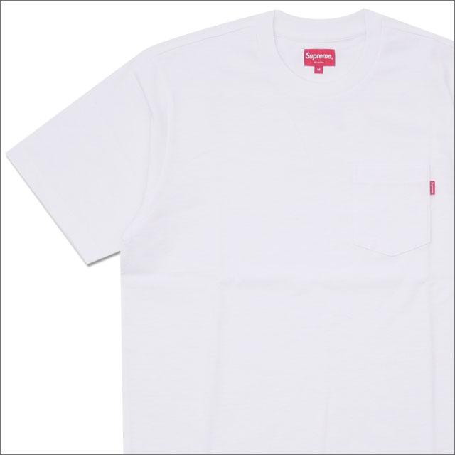 【合計15,000円(税抜)以上のお買い上げでステッカープレゼント!】 SUPREME(シュプリーム) Pocket Tee D-1 (Tシャツ) WHITE 203-000275-040+ 【新品】