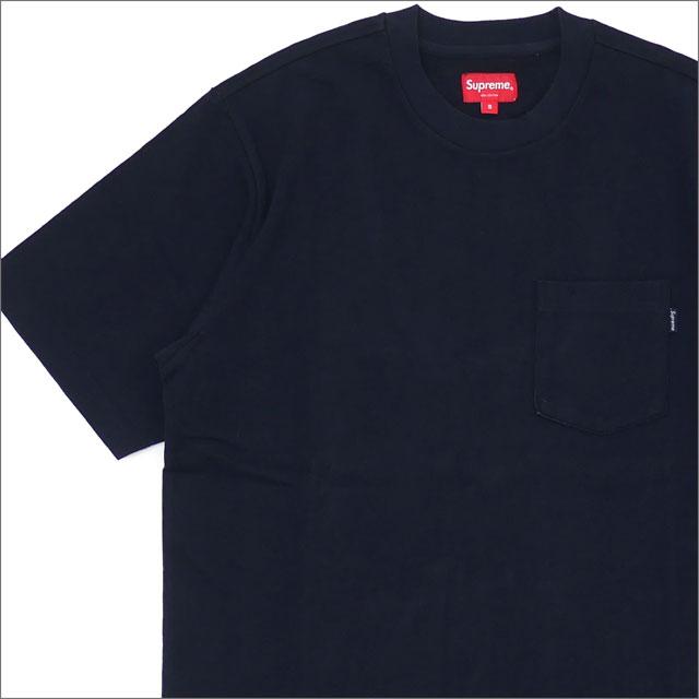【合計15,000円(税抜)以上のお買い上げでステッカープレゼント!】 SUPREME(シュプリーム) Pocket Tee D-1 (Tシャツ) NAVY 203-000275-037+【新品】