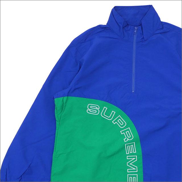 SUPREME(シュプリーム) Corner Arc Half Zip Pullover (ジャケット) ROYAL 214-000066-144+【新品】